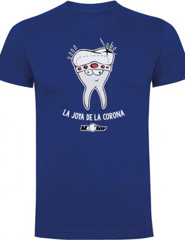camiseta dentista unisex joya corona